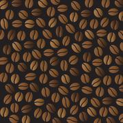 some coffee beans - stock illustration