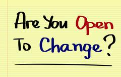 Stock Photo of Are You Open To Change Concept