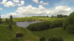 Green dragon in hobbiton Stock Footage