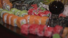 Snack sushi Stock Footage