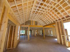 New house interior construction Stock Photos