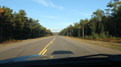 Sunny drive on straight road in Northern Ontario. Stock Footage