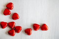 Valentines Day background with hearts. - stock photo