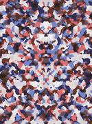 Red and blue camouflage pattern Stock Illustration