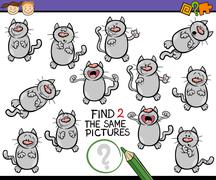 Find same picture game cartoon Stock Illustration