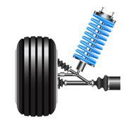 Car suspension, frontal view. Vector Illustration Stock Illustration