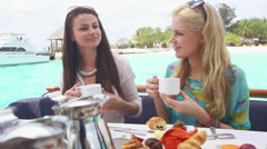 Coffee With Best Friend Stock Footage