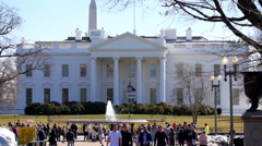 White house north lawn crowd Stock Footage