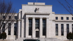 Front shot of Federal Reserve Stock Footage