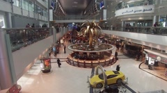Dubai Airport Terminal Duty Free shops Terminal one DXB Stock Footage