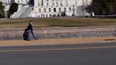 Medium shot of US Capital Under Construction Stock Footage