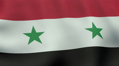 4K UltraHD Loopable waving Syrian flag animation Stock Footage