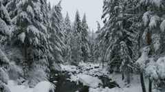 Snowy Mountain River-UHD Stock Footage