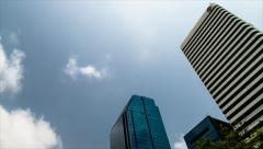 Timelapse of Office Complex in Asoke District of Bangkok Stock Footage