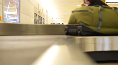 Baggage claim low angle Stock Footage