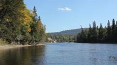 Michipicoten River, Algoma, Ontario, Canada. Stock Footage