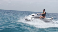 Riding The Waves Stock Footage