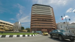 Lebuh Light's Roundabout in Penang Stock Footage