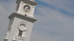 The Queen Victoria Memorial Clock Tower in Penang, Malaysia Stock Footage