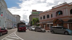 Wide Angle Pan Shot of Penang Immigration Department Building Stock Footage