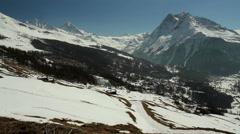 Mountain View near Saint-Martin village Stock Footage