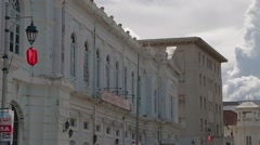 Historical Penang's Government Building & Lebuh Pantai Road Stock Footage
