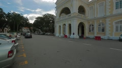 Penang Town Hall at Tun Syed Sheh Barakbah Street in Georgetown Stock Footage