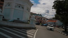 Lebuh Pantai's Intersection to Queen Victoria Memorial Clock Tower Stock Footage