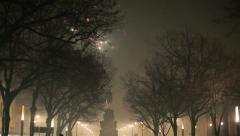 Fireworks in Berlin (Happy New Year 2014) Stock Footage