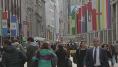 Milano city center crowd Stock Footage