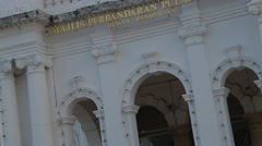 Close Up and Tilt Shot of the City Hall of Penang Stock Footage