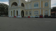 Wide Angle Tilt Shot of Penang Town Hall Stock Footage