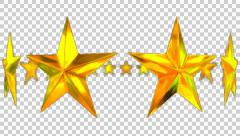 Animated rotating circle of golden stars 3 in 4k Stock Footage