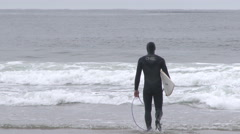 Pacific Coast Surfer 1 Stock Footage