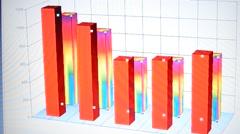 Column histogram Stock Footage