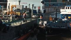 Мooring vessel to vessel Stock Footage