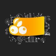 Stock Illustration of Drawing business formulas: billiards