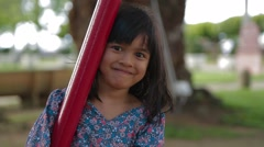 Close Up Shot of A Smiling Girl Stock Footage