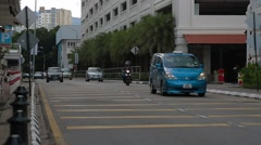 The Farquhar Street In Front of Eastern & Oriental Hotel in Penang Stock Footage