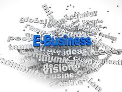 3d image E-Business   issues concept word cloud background Piirros