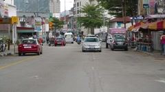 A Wide Angle Shot of Jalan Penang in Georgetown Stock Footage