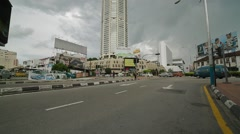 Tilt Up Shot of Komtar Building in Penang Stock Footage