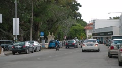 Penang Road in Georgetown, Penang Stock Footage