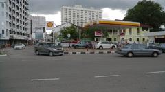 Pan Shot of Intersection at Jalan Penang Stock Footage