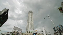Komtar Tower in Georgetown, Penang Stock Footage