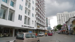 Pan Shot of Hotel Continental on Jalan Penang Stock Footage