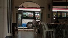 Men Sitting in a Chinese Kopitiam Shop in Penang Stock Footage