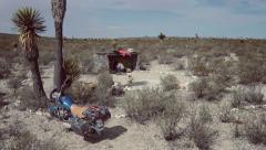 Campsite in desert Stock Footage