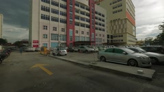 Tilt Up Shot of Penang's Gleneagles Medical Centre Stock Footage