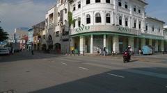 Kayu Nasi Kandar Building in Penang, Malaysia Stock Footage